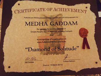 2014 Contest Certificate